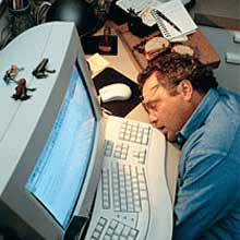 Tidur saat kerja di kantor